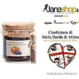 MELA SARDA & MIRTO CONFETTURA, Confettura di Mela Sarda e Mirto, 220 gr. Prodotti Sardi