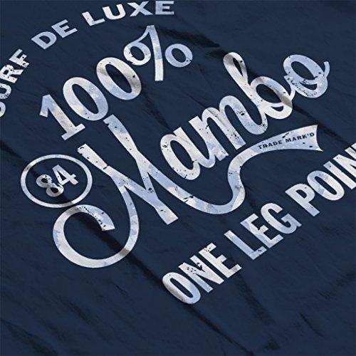 Mambo One Hundred Percent Surf Deluxe Blue Women's T-Shirt Navy blue