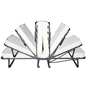 Beautissu Cómoda Cama para Invitados - Cama Plegable - Monaco - 90 x 200 cm - Armadura de Metal - Incl. Funda cm