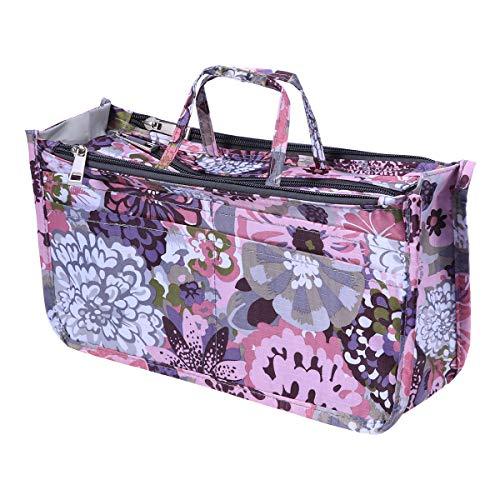 Frcolor Oxford Travel Makeup Bag Multifonction Cosmétique Train Box Artiste Organisateur Case (Pivoine)