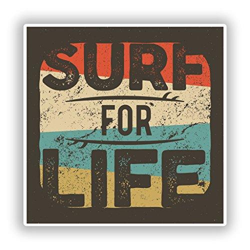 2x Surf für Life Vinyl Aufkleber Reise Gepäck # 10273 - 20cm/200mm Wide (Surf Ii)