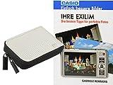 Progallio Sparset - Foto-Tasche Kameratasche RETRO CASE weiss im Set mit Fotobuch IHRE EXILIM für Casio Exilim EX-N50 EX-N5 EX-N10 EX-N20 EX-ZS30 R300 Z690 Z28 ZS12 Q-R200 Q-VR300 ZS12 ZS30 Z28 S690 EX-ZR40