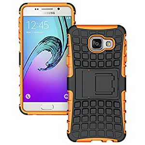 Samsung Galaxy A3 ( 2016 Edition ) - Stylish Heavy Duty Hard Back Armor Shock Proof Case Cover with Back Stand Feature & Free Screen Protector by Accessories Collection