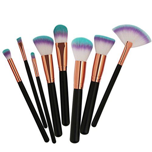 fasloyu 8 Make-up-Pinsel-Set Glitzer Reiniger Prime Morphe billigen Lidschatten Eyeliner Lip...