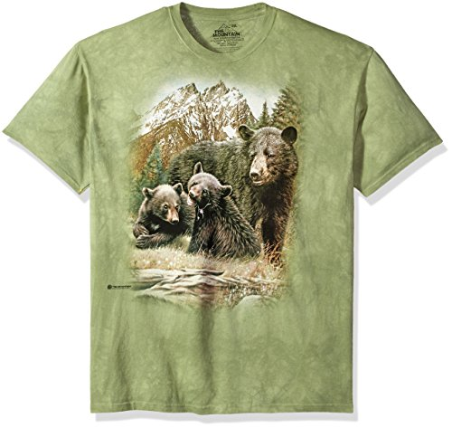 The Mountain Unisex-Erwachsene Black Bear Family T-Shirt, grün, X-Groß -