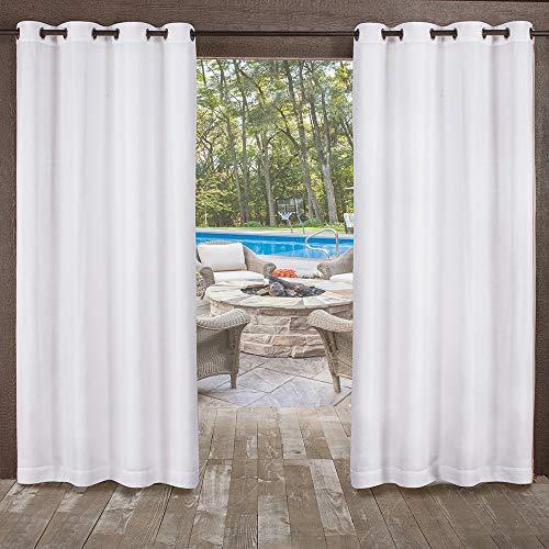 Exclusive Home Vorhänge, strukturiert Sheer-Miami Tülle Fenster Vorhang Panel Paar, Winter, weiß, 54x 96 (Vorhänge 96 Fenster)