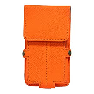 Jo Jo A6 G8 Series Leather Pouch Holster Case For Samsung Hero E2230 Orange