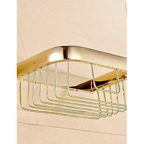 LQK-oro di accessori da bagno di materiale in ottone porta-carta igienica