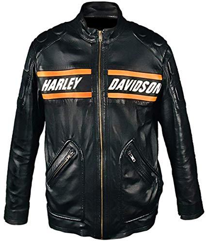 (Lederliche Halloween-Kostüme WWE Bill Goldberg Harley Davidson Vintage Motorrad-Kunstlederjacke-m)