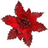 Jiuloner -12Pieces Glitter Weihnachtsbaum Weihnachtsstern Blumen Für Weihnachten Valentinstag Neujahrsdekorationen