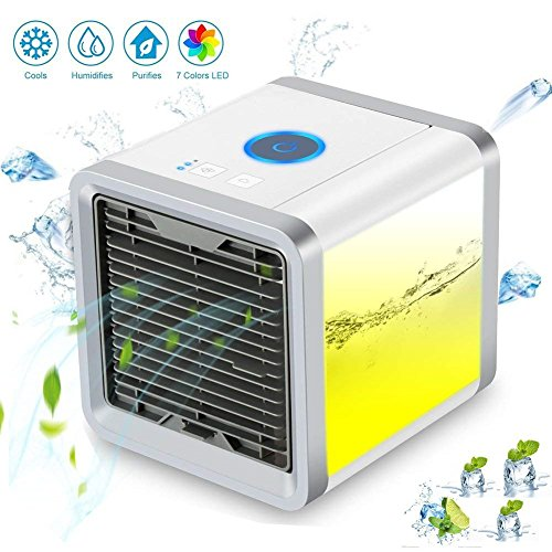 Mini Klimaanlage Mobil klimagerät Arctic Air cooler Luftkühler Verdunstungskühler Luftbefeuchter Luftreiniger Tragbarer (Blau new)