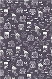 Posterlounge Acrylglasbild 60 x 90 cm: Häuser im Regen von Kidz Collection/Editors Choice - Wandbild, Acryl Glasbild, Druck auf Acryl Glas Bild