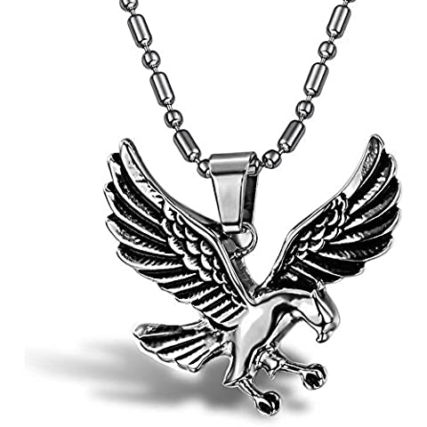 SaySure - Eagle Chain Men's 316l Stainless Steel (Mens Sterling Silver Eagle)