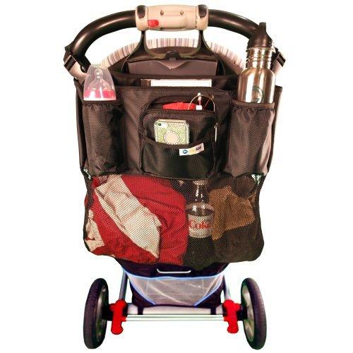 On The Go Stroller Organizer - large black stroller bag 16