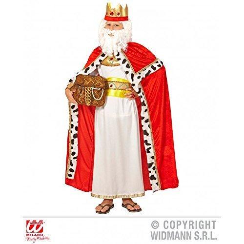 Lively Moments Kostümzubehör Königsumhang mit Königskrone für Kinder / Königinnenumhang / Kinderumhang / Royal King Cape Gr. 158 ( 11 - 13 Jahre - Fürsten Kostüm Kinder