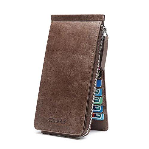 Geldbörsen Geldbeutel Herren Kartenbeutel große Kapazität Karte Paket ultra-dünn ( Color : Coffee ) (Männer Ereignis Schuhe)