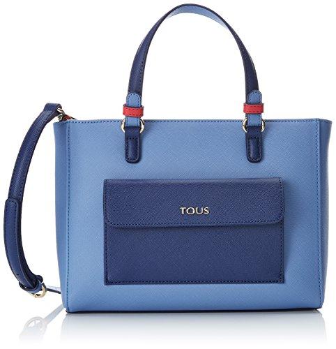 Tous Damen Essce Kuriertasche, Mehrfarbig (Marino-Azul), 9x19x26 centimeters