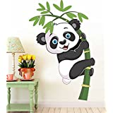 Printelligent 'Cute Baby Panda Wall Stickers Decal Wallpaper For Kids Home Living Room Bedroom