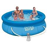 INTEX Pool 305 x 76 cm, Filterpumpe, leichter Auf-und Abbau TÜV geprüft, 11 kg // Schwimmbecken Swimmingpool Planschbecken mit Filter Pumpe Pool