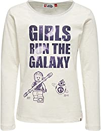 Lego Wear Lego Girl Star Wars Tallys 651-Langarmshirt-Leuchtet Im Dunkeln, T-Shirt Manches Longues Fille
