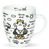 Sheepworld 45135 Tasse mit Spruch Ohne Oma ist alles doof, Porzellan, Geschenk Oma, 45 cl -