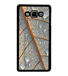Fuson Premium 2D Back Case Cover Dew drops on leaf With White Background Degined For Samsung Galaxy A7::Samsung Galaxy A7 A700F
