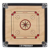 J D Sports Carrom Board (Medium, Black)