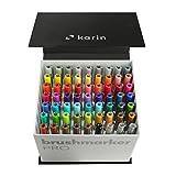 KARIN Megabox Brushmarker PRO Brushpens auf Wasserbasis geeignet zum Malen, Zeichnen und Handlettering mehrfarbig