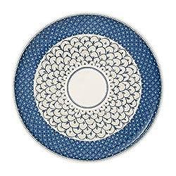 Villeroy & Boch Casale Blu Pizzateller, Premium Porzellan, blau/weiß, 32cm