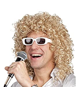 Blonde Curly wig for man (peluca)