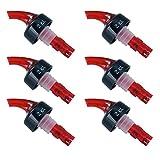 Markenlos 6 Stk. Ausgießer 2 cl. Schnapsausgießer Portionierer Dosierer für Flaschen - Kunststoff