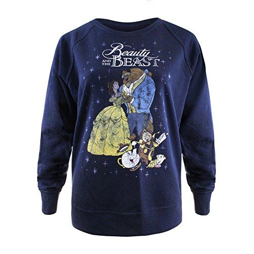 Disney Classic, Felpa Donna Blue (Navy Blue)