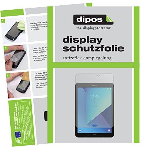 dipos I 2X Schutzfolie matt passend für Samsung Galaxy Tab S3 Folie Bildschirmschutzfolie