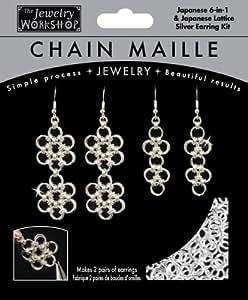 Chaîne Maille bijoux 6-en-1 Kit-japonais & boucles d'oreilles - Sil en treillis