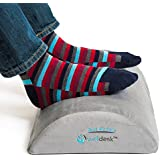 Rest My Sole - Foot Rest Cushion for Under Desk - Foam Footrest Your Feet Will Love at Home or Office - Resilient Pillow Foam, Non-Slip Lower Surface and Low Profile for Optimum Leg Clearance