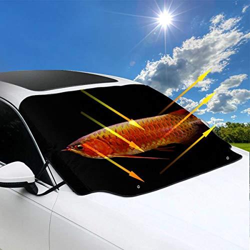 Preisvergleich Produktbild Windschutzscheibe Auto Sonnenschutz asiatischen Arten von Goldfisch Windows Shades für Autos 57.9x46.5 Zoll147cmx118cm für die meisten Fahrzeuge durch Schützen Sie die Windschutzscheibe und Scheibenw