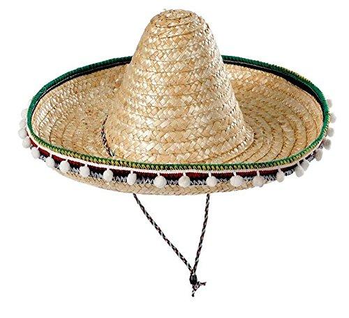 Sombrero mejicano adulto 55cm – Beige, Unica