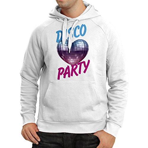 lepni.me Kapuzenpullover Disco-Party, für Musikliebhaber (XX-Large Weiß Mehrfarben)