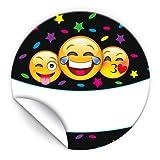 JuNa-Experten 24 Aufkleber Party für Geschenkverpackung / Sticker für Verpackung vom Gastgeschenk Beim Geburtstag Hochzeit Kindergeburtstag Fest (24 Aufkleber)