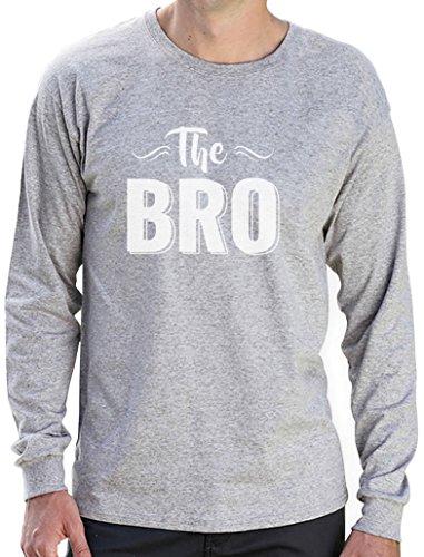 The Bro - Cooles Design Shirt für den Bruder Langarm T-Shirt Grau