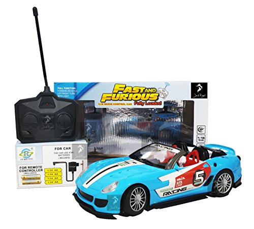 Royal Fast & Furious 1:16 Radio Control Car with 4*AA Batteries and Charger for Car (Sky Blue California)