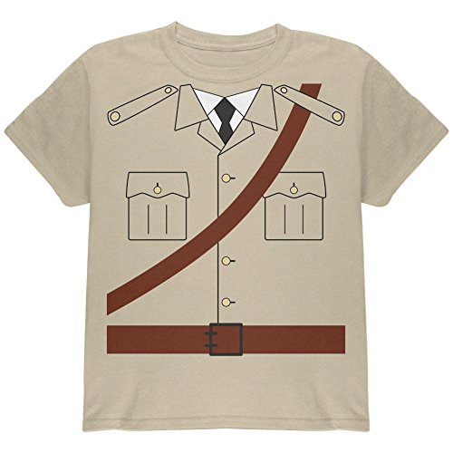 Kostüm Halloween Safari Explorer Dr. Livingstone Jugend T Shirt Sand (Explorer Kostüm Safari)