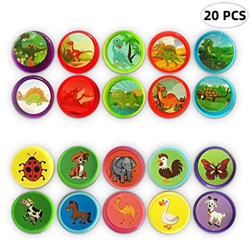Yuccer Stempel Kinder Selbstfärbend Niedliche Dinosaurier Stempel für Kinder Farb Stempel Spielzeug Geschenke Briefmarken Spielzeug Kindergeburtstag Gastgeschenke (Grün)