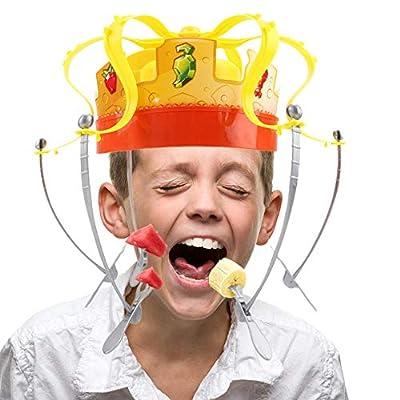 AITOCO Le Roi des Gourmands, Chow Crown, Jeu de Famille de Couronne de Chow, Jouet de Nourriture de Casse-croûte électronique de Couronne avec Musica