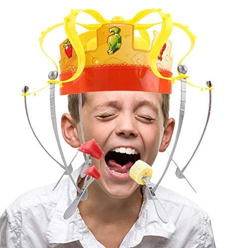 Family Game, Electronic Spinning Crown Snacks Food Toy con Musical, Family Chow Crown Juego de juego para los favores de la fiesta de Navidad - Niños y adultos