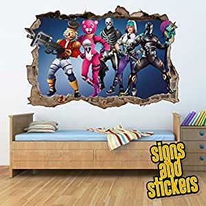 Fortnite Square Wall Break Wall Stickers for Kids/Boys ...