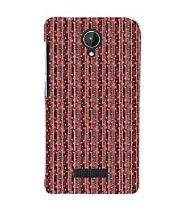 Colourful Pattern 3D Hard Polycarbonate Designer Back Case Cover for Micromax Canvas Spark Q380