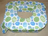 BabyWild Cojín de lactancia estilo americano para gemelos, diseño de hojas, color verde y azul