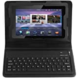 Generic Leder-Schutzhülle für Blackberry Playbook Tablet 7 Zoll / 17,78 cm mit Bluetooth-Tastatur
