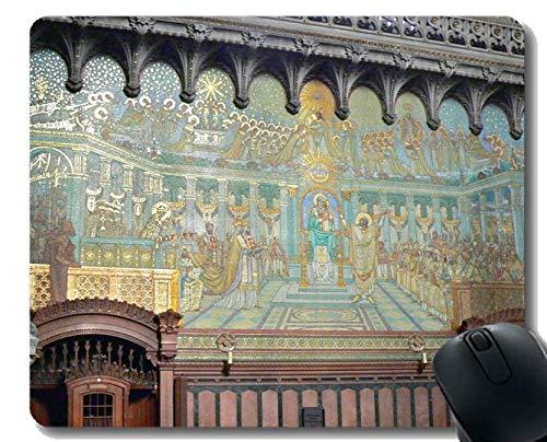 Spiel-Mäusematte, Glaube Glauben Notre Dame Mauspad Genähte Grenze